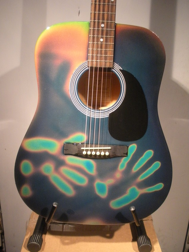 Touch Sensitive Color Changing Guitar 079
