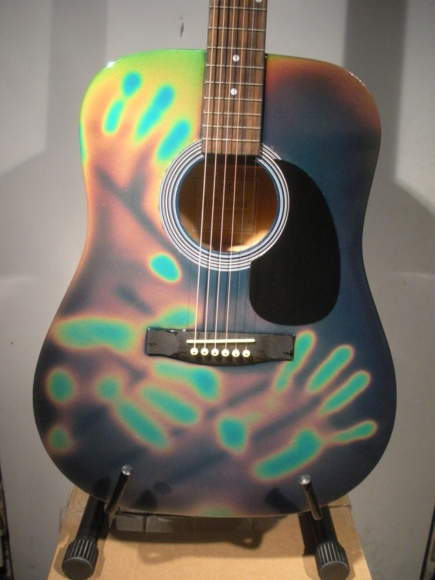 Touch Sensitive Color Changing Guitar 081