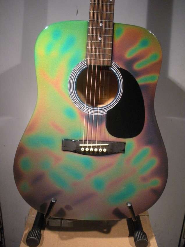 Touch Sensitive Color Changing Guitar 087